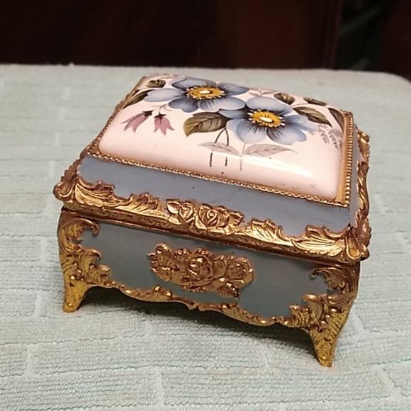 Vintage Music Trinket Box.